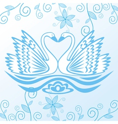 Swan pattern background vector image