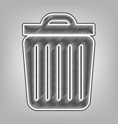trash sign pencil sketch vector image