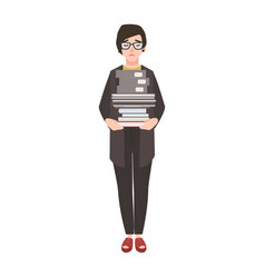 unhappy female clerk employee or businesswoman vector image