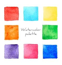 Watercolor palette vector