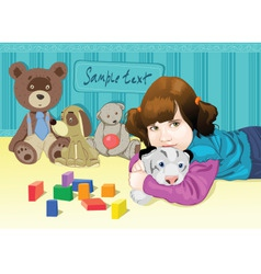 baby playing with toys vector image vector image