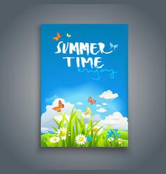 Enjoy summer template vector