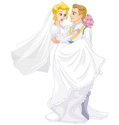 Happy royal couple vector image vector image