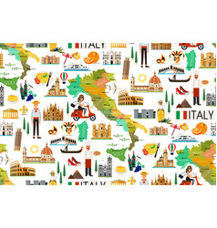 italy travel pattern vector image vector image