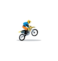 Motocross sign vector image vector image