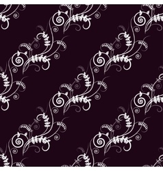Seamless floral pattern with vetch vector image vector image