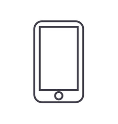 smartphone line icon sign on vector image vector image