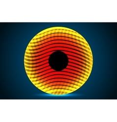 Abstract orange circle vector image