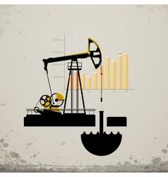 Oil pump jack vector
