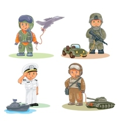 Set icons of small children different vector image vector image