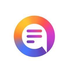 speech bubble logo colorful logo design vector image vector image
