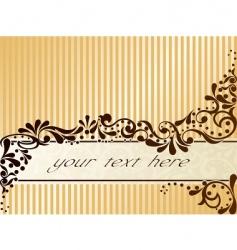 vintage sepia banner horizontal vector image vector image