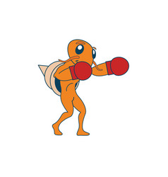 boxing hermit crab vector image vector image