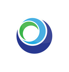 circle abstract business logo image vector image vector image