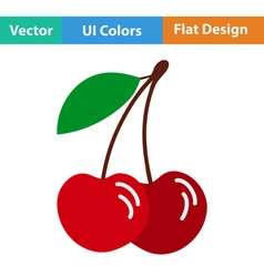 Flat design icon of Cherry vector image vector image