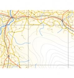 generic map vector image