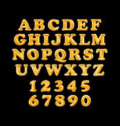 gold alphabet foil party celebration balloons vector image vector image