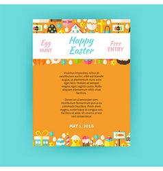 Happy easter invitation template poster vector