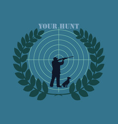 logo your hunt vector image