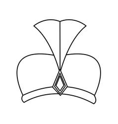 outline hat wear wise kign of manger vector image vector image