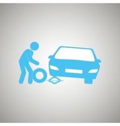 tire center design vector image