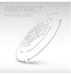 abstract technical shape vector image vector image
