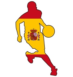 basketball colors of Spain vector image vector image