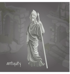 Cartoon image of ancient sculpture vector image