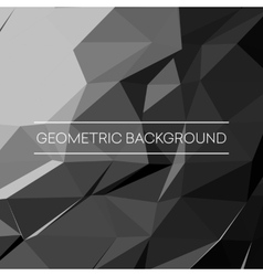 Geometric pattern triangles background in vector image