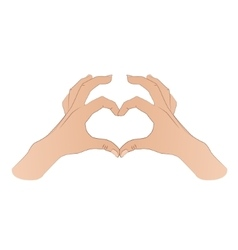 Hands shaping a heart symbol vector image vector image