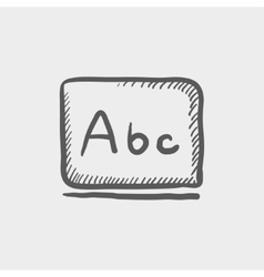 Letters abc in blackboard sketch icon vector image