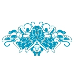 ornament of monkeys funny winged monkey vector image
