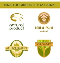 Set logo for farmers agricultural products Natural vector image vector image
