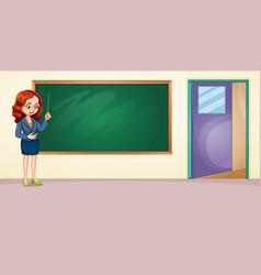 a teacher in the classroom vector image