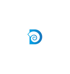 abstract d initial brand curve logo vector image