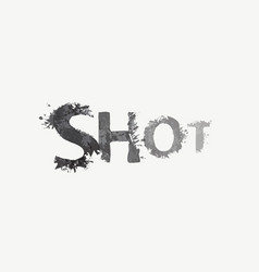 Abstract grey lettering shot on a light background vector
