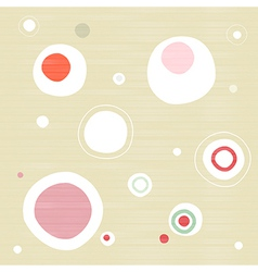 Abstract retro textile circle background vector
