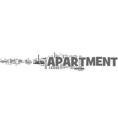 Apartment reviews text word cloud concept vector