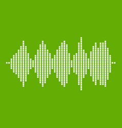 audio digital equalizer technology icon green vector image