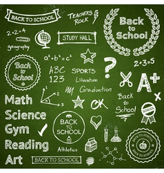 Back to school elements vector