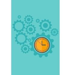 Background cogwheels and clock mechanism vector