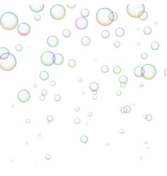 background with shiny soap bubbles vector image