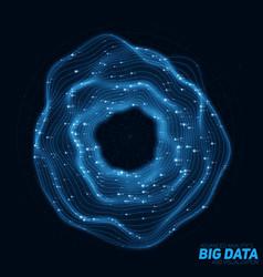 Big blue data circular visualization futuristic vector