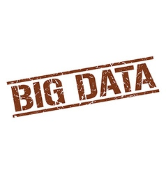 Big data stamp vector