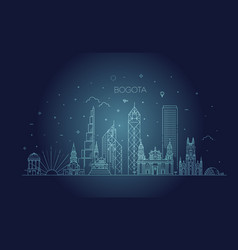 bogota architecture line skyline vector image