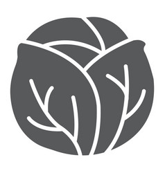 Cabbage glyph icon vegetable and diet vector