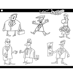 cartoon businessmen set vector image vector image