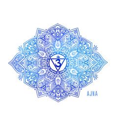 chakras symbol coloring vector image