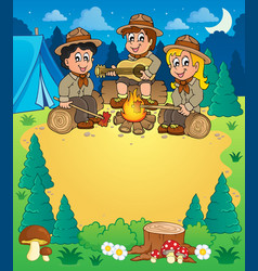 Children scouts theme image 3 vector