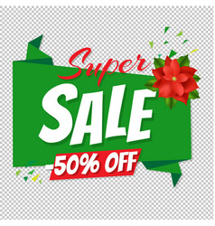 christmas big sale poster transparent background vector image